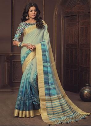 Blue Shaded Saree