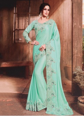 Blue Silk Bollywood Saree