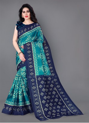 Blue Silk Classic Saree