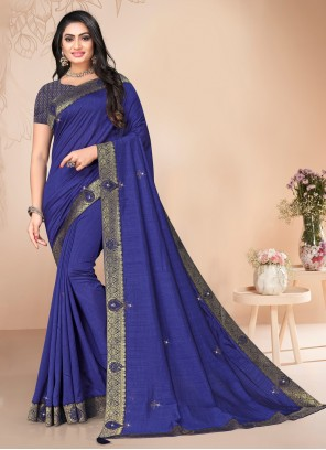 Blue Silk Festival Traditional Saree