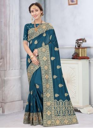 Blue Silk Traditional Saree