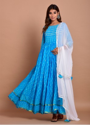 Blue Trendy Gown