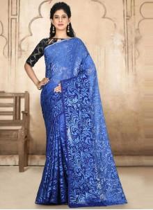 Blue Weaving Festival Classic Designer Saree