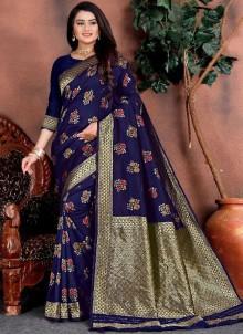 Blue Weaving Festival Classic Saree