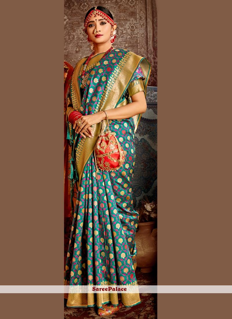 Blue Weaving Wedding Designer Traditional Saree