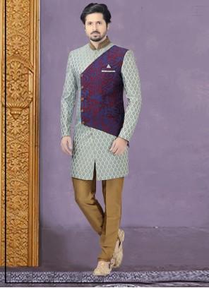 Blue Wedding Indo Western