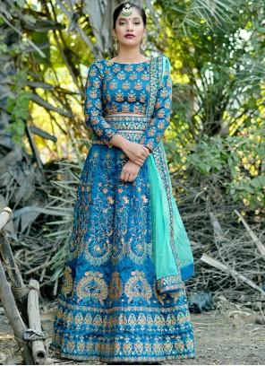 Blue Wedding Lehenga Choli