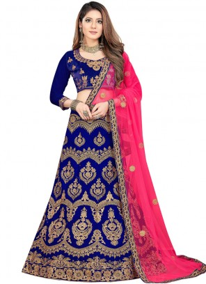 Blue Wedding Trendy Lehenga Choli