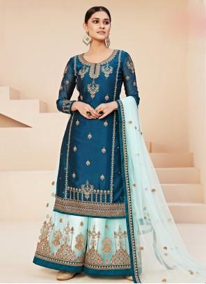 Blue Wedding Trendy Salwar Suit