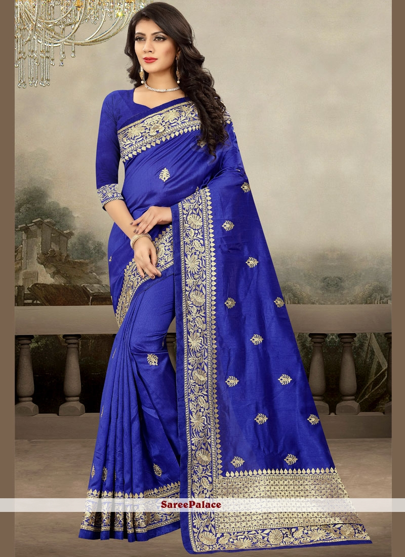 Blue Zari Sangeet Designer Saree