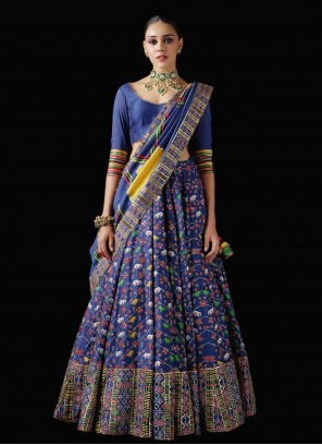 Bollywood Blue Lehenga Choli For Wedding