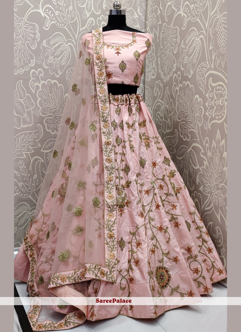 Bollywood Pink Lehenga Choli For Wedding