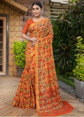 Bollywood Saree Weaving Cotton Silk in Multi Colour