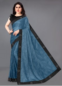 Border Blue Casual Saree