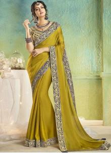 Border Green Trendy Saree