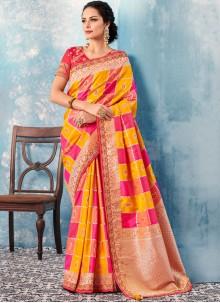 Border Tafeta silk Multi Colour Classic Saree