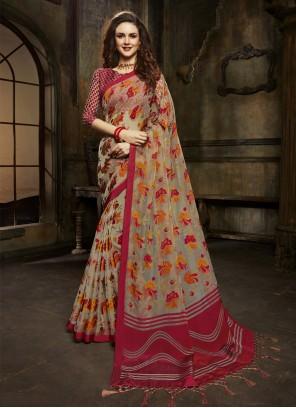 Brasso Multi Colour Designer Saree