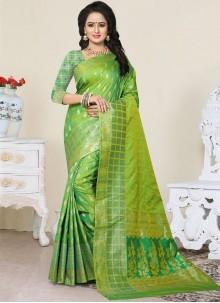 Brilliant Weaving Work Banarasi Silk Designer Traditional Saree