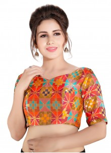 Brocade Designer Blouse in Multi Colour