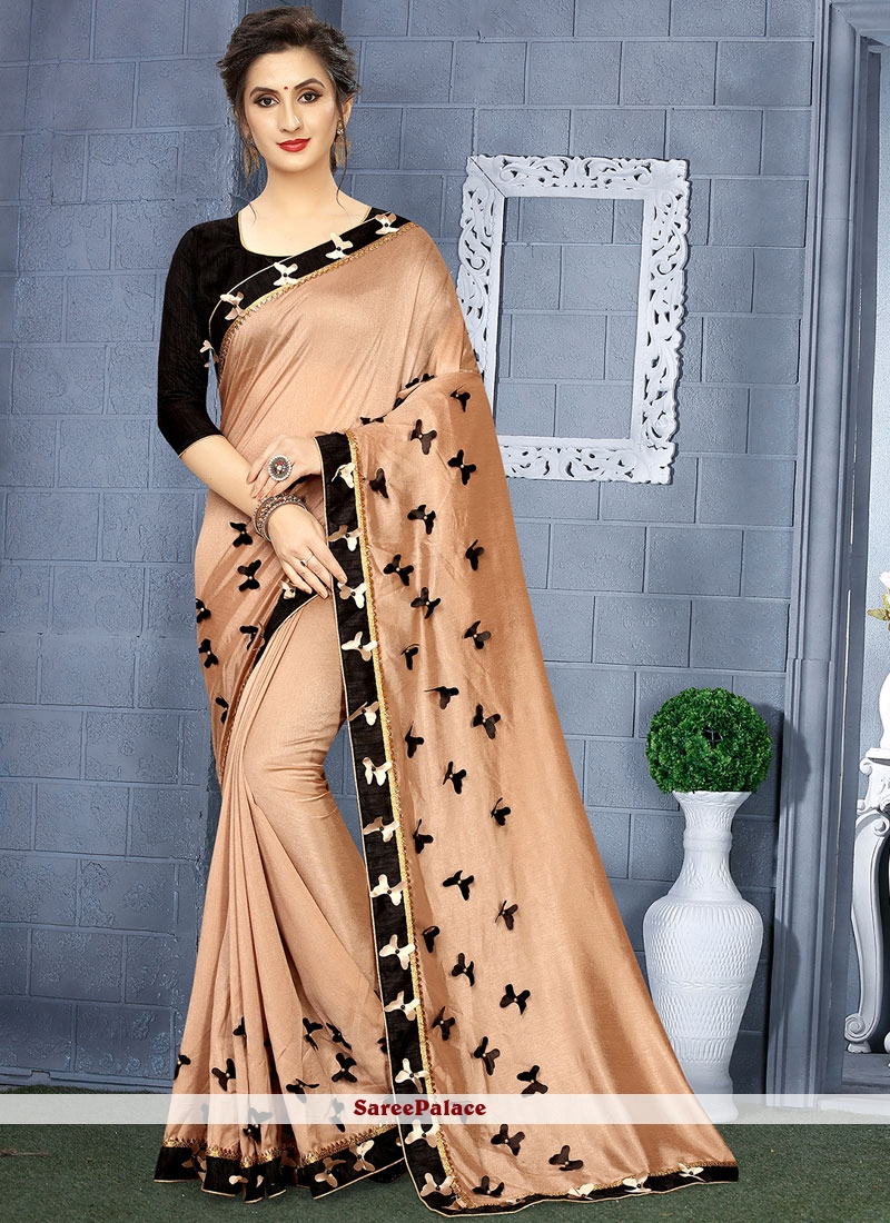 Brown and Gold Casual Saree