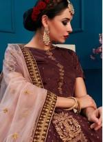 Brown Bridal Lehenga Choli