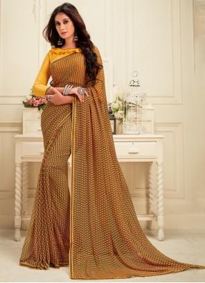 Brown Casual Saree