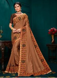 Brown Color Classic Designer Saree