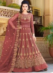 Brown Color Designer Lehenga Choli