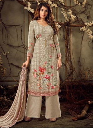 Brown Color Palazzo Suit