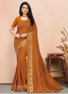 Brown Color Traditional Saree