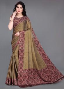 Brown Contemporary Saree