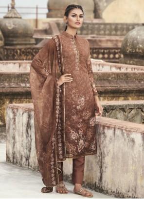 Brown Designer Pakistani Suit