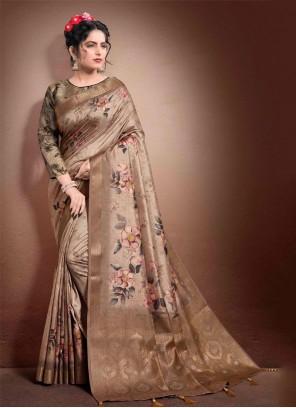Brown Designer Saree
