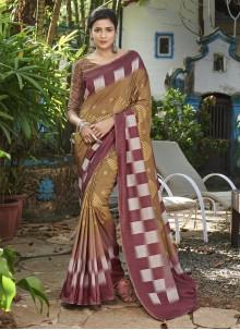 Brown Festival Bollywood Saree