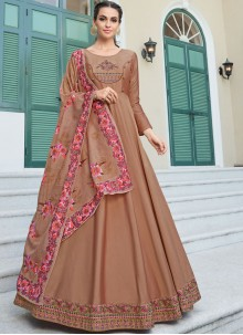 Brown Festival Gown
