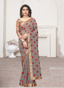 Brown Lace Classic Saree