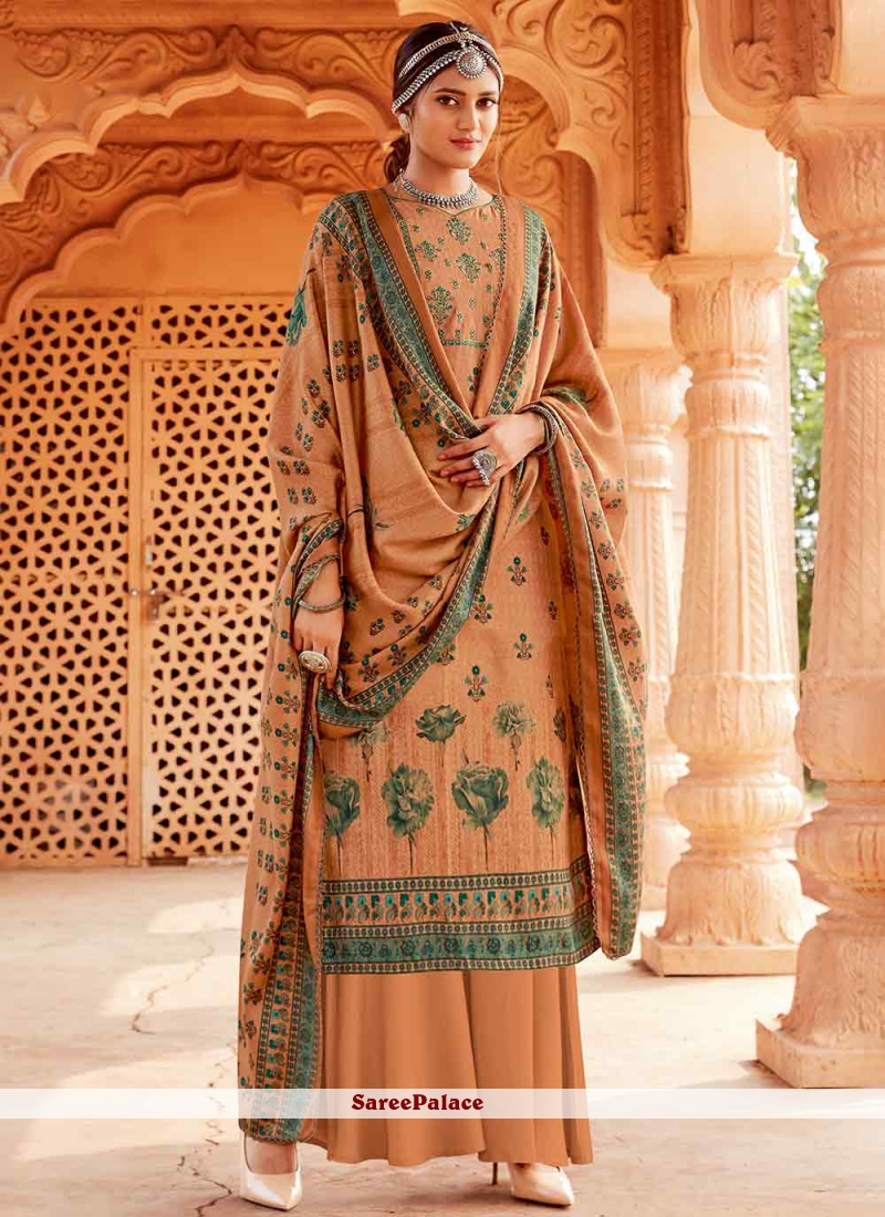Brown Party Palazzo Suit