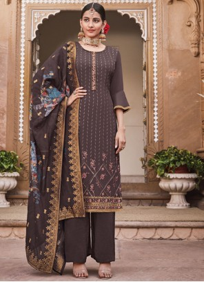 Brown Party Salwar Suit