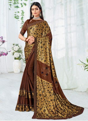 Brown Party Traditional Saree