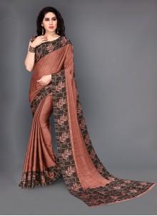 Brown Silk Trendy Saree