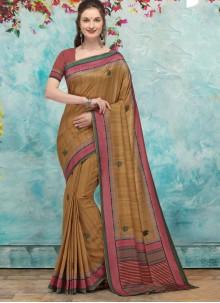 Brown Traditional Designer Saree