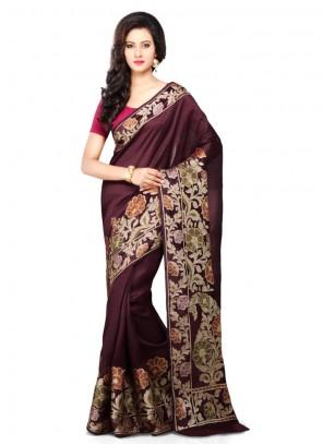 Brown Weaving Designer Traditional Saree