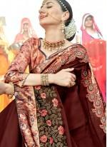 Brown Wedding Designer Traditional Saree