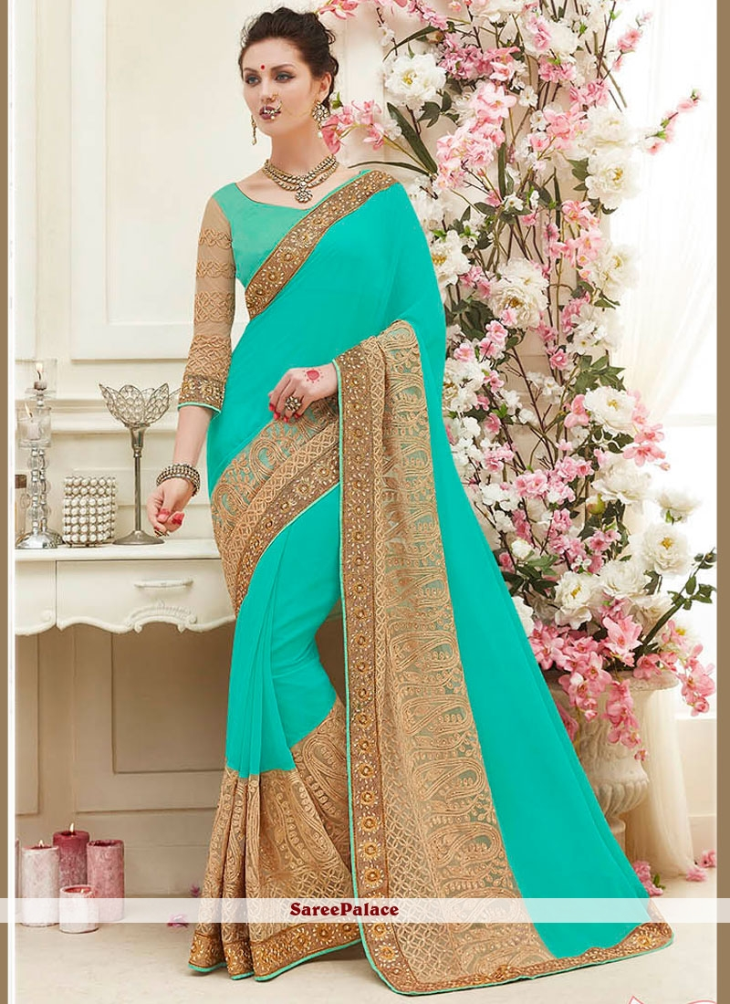Captivating Embroidered Work Classic Saree