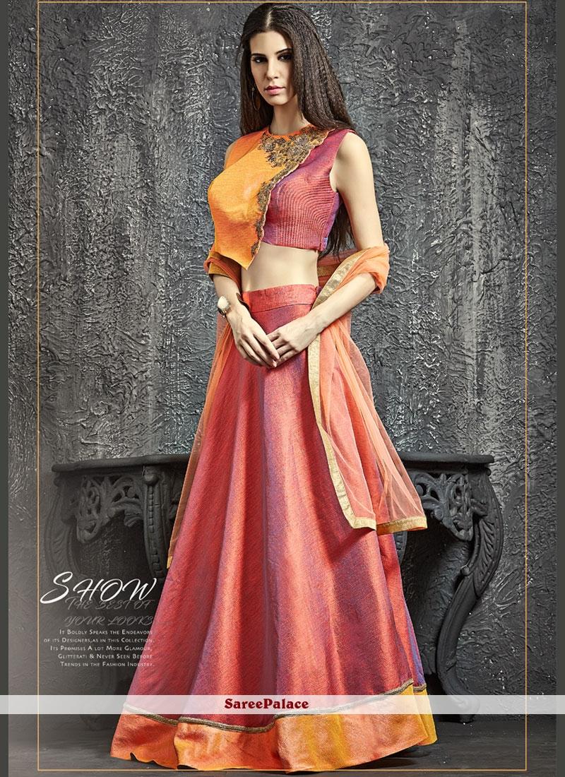Captivating Raw Silk Cutdana Work Lehenga Choli