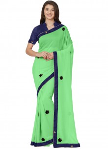 Green Casual Saree For Casual