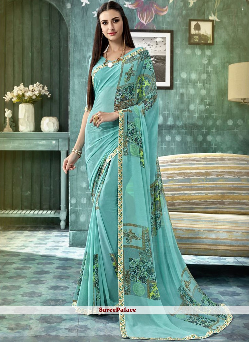 Multi Colour Georgette Casual Saree For Casual