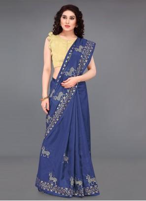 Blue Saree For Casual