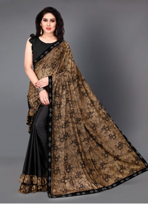 Casual Saree Brown For Festival