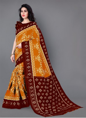 Casual Mustard Saree For Festival